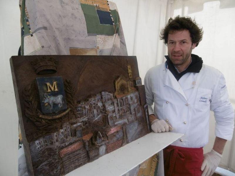 Stefano Comelli - Choco scultura Matera